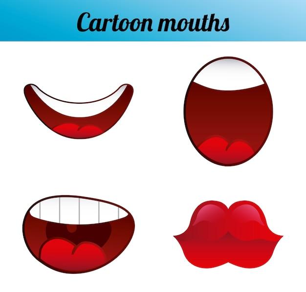 Emoticon di cartone animato