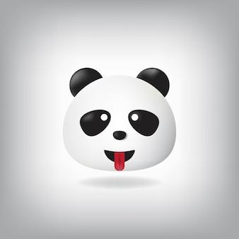 Emoticon di lingua panda