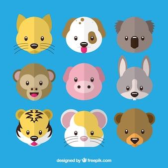 Emoticon pacchetto animale sveglio