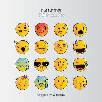 Emoticon piatto reazione collectio