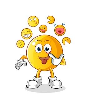 Emoticon ridere e deridere l'illustrazione