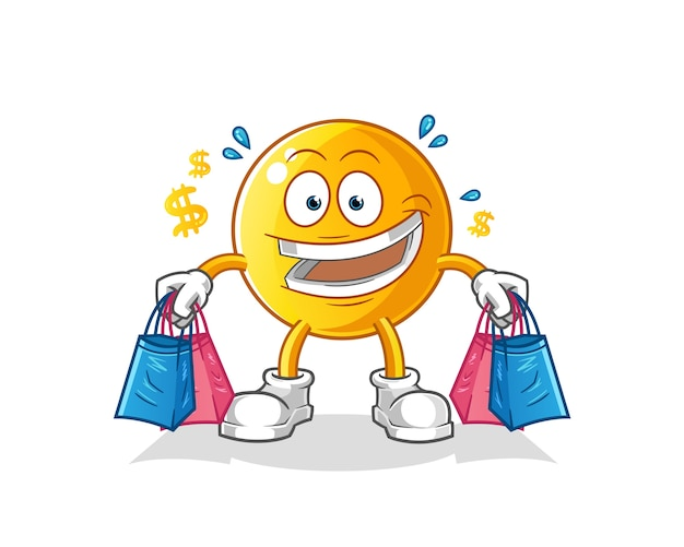 Emoticon shopping illustrazione