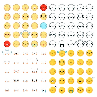 Emoticons grande set