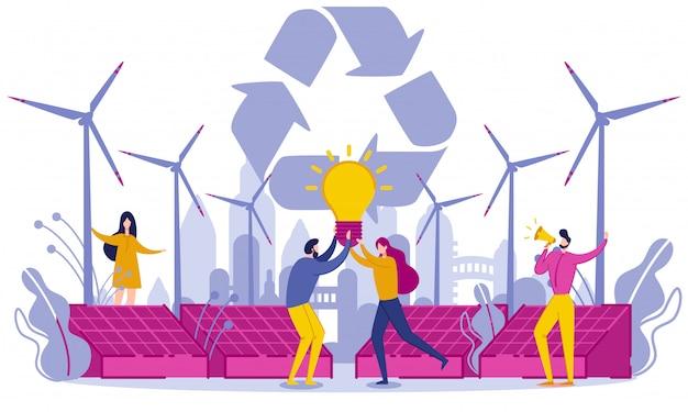 Energia verde piatta e materie prime secondarie.