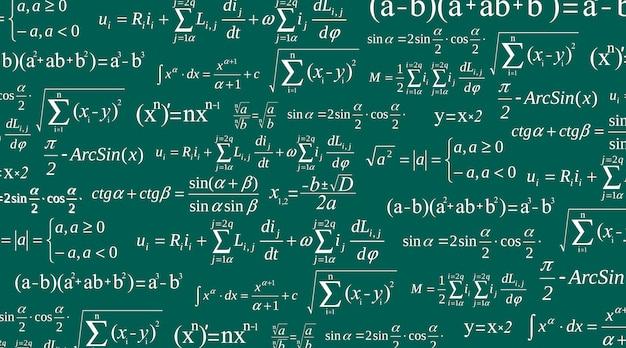 Equazione matematica, formule matematiche e aritmetiche.