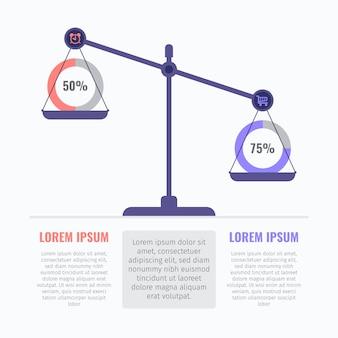 Equilibrio del concetto di infografica