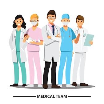 Equipe medica e personale
