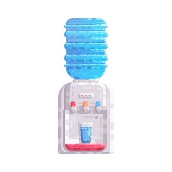 Erogatore del dispositivo di raffreddamento di acqua con l'illustrazione di plastica di vettore del gallone della bottiglia