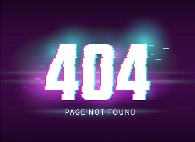 Errore 404 con effetto glitch