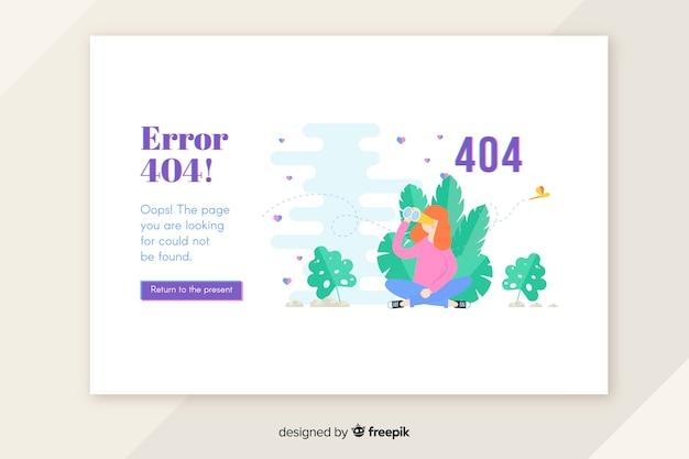 Errore 404 concetto per pagina di destinazione