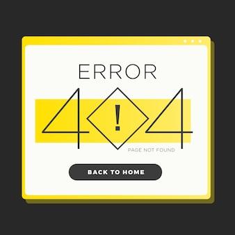Errore di finestra 404 sign