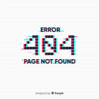 Errore di glitch 404 sfondo della pagina