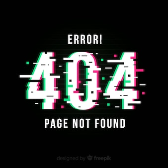Errore glitch 404 pagina