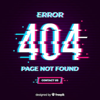 Errore glitch 404 pagina