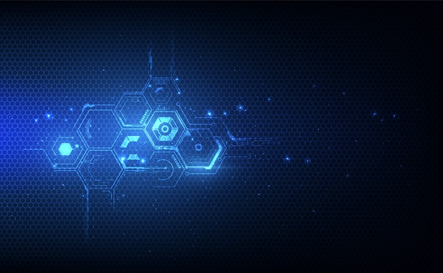 Esagono astratto modello tech sci fi sfondo innovativo