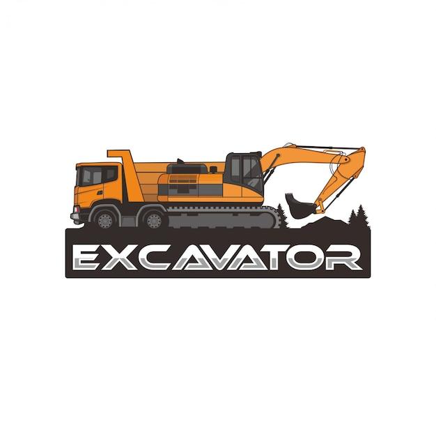 Escavatore isolato