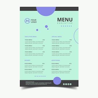 Esecutivo del menu della donna di affari