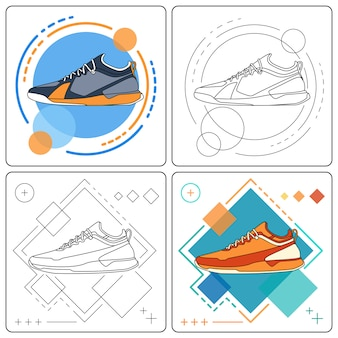 Esegui sneakers facilmente modificabili