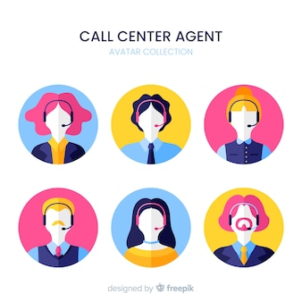 Esempio di avatar del call center