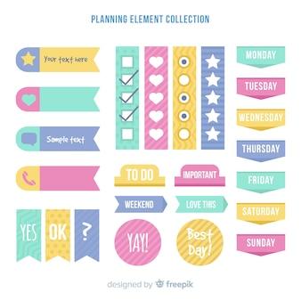 Esempio di elementi di pianificazione
