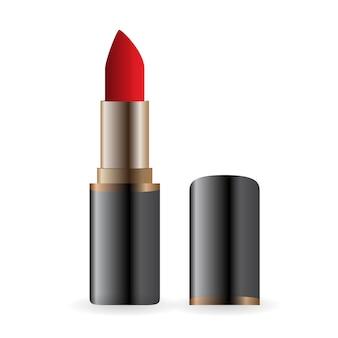 Esempio per la pubblicità dell'immagine rossetto rosso brillante .. eps10