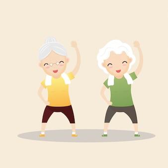 Esercizio delle persone anziane.