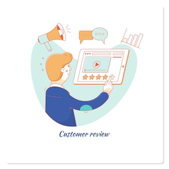Esperienza del cliente e concetto di recensione online