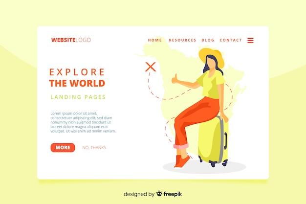Esplora il modello di pagina di destinazione mondiale