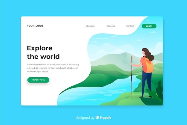 Esplora la landing page dell'avventura mondiale