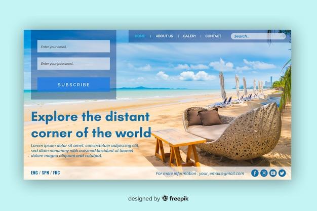 Esplora la pagina di destinazione dei lontani viaggi del mondo