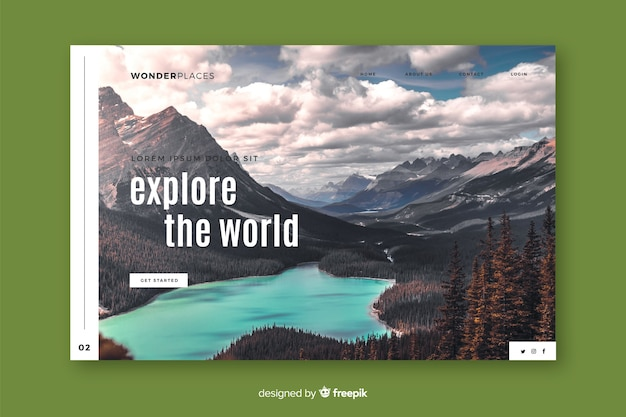 Esplora la pagina di destinazione dei viaggi nel mondo