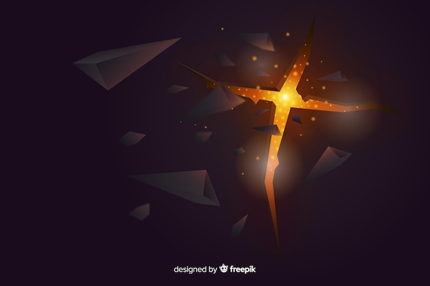 Esplosione 3d con sfondo chiaro