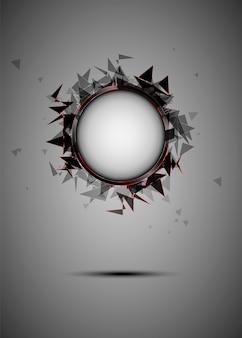 Esplosione astratta di vetro nero