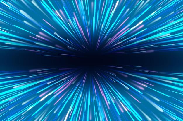 Esplosione di luci di velocità sullo sfondo
