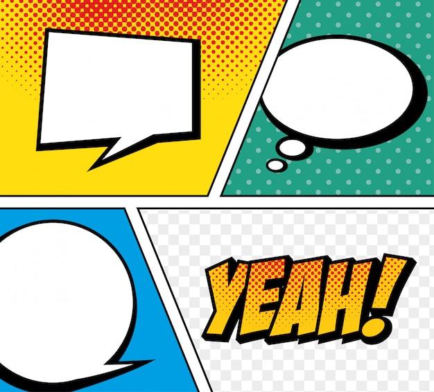 Esplosione di pop art di testo comico del fumetto
