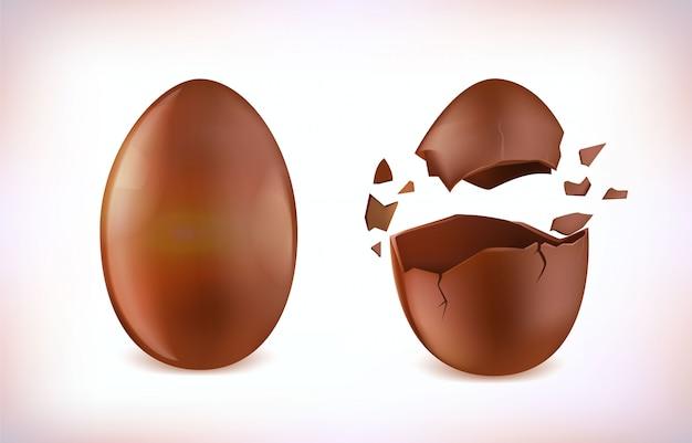 Esplosione di uova di cioccolato, uovo di pasqua