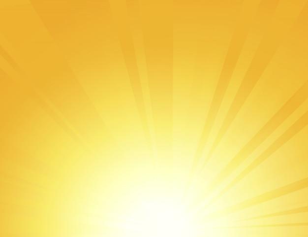 Esponga al sole i raggi con i raggi di sole su un fondo arancio, il colore giallo luminoso ha scoppiato il fondo, l'alba, le retro linee rotonde gialle, lo starburst, ha scoppiato la luce solare dell'estate ,.