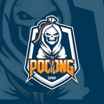 Esport gamer logo pocong