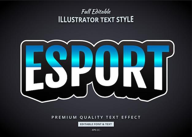 Esport gioco effetto stile testo