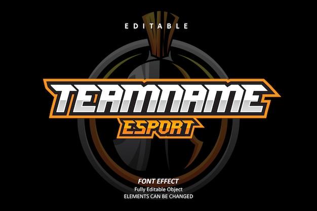 Esport team text effect