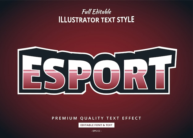 Esport team text style effect