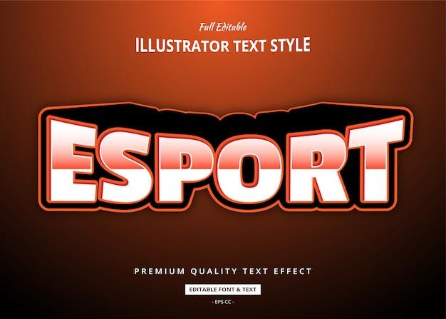 Esporta effetto stile testo