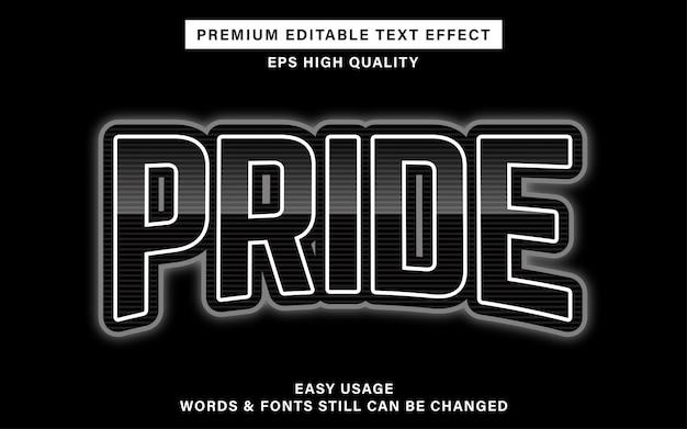 Esporta l'effetto testo orgoglio