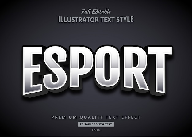Esporta l'effetto testo