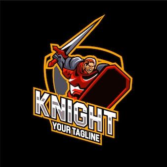 Esports gaming knight logo team