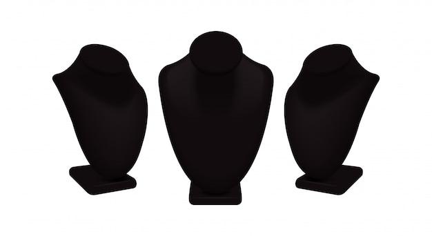 Espositori per collana vettoriali per gioielli.