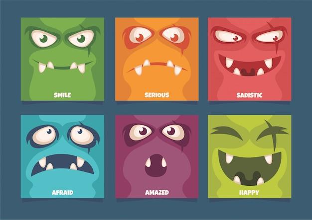 Espressione facciale del mostro