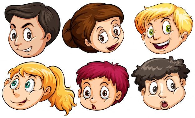 Espressioni facciali diverse