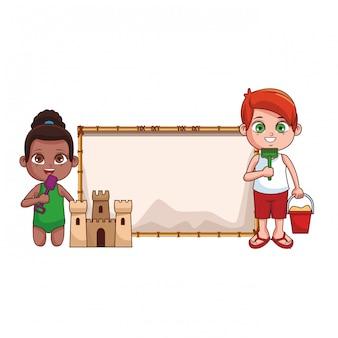 Estate bambini cartoon