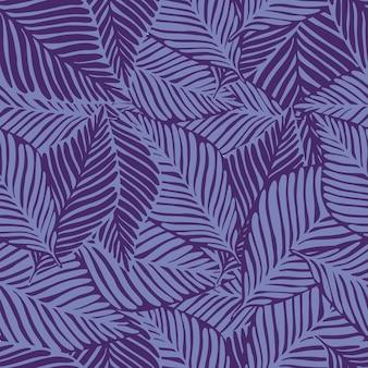 Estate natura giungla con pattern di piante esotiche in toni viola